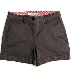 "Boden Chino Cuffed Shorts Brown / Gray 4"" inseam 4"